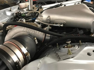 @chrisforsberg64 here! When @namelessperformance built the twin turbo package for my 370Z we went with two @turbobygarrett GTX3076 mirrored turbos. They are mounted in the rear of the engine bay to keep as much of the heat in one location and minimize heat soak. The engine may look pushed forward but it is actually in the stock location and we removed as much as we could behind the engine to make room for the turbos. #ThisIsChrisForsberg64