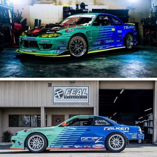 @mattfield777 & @odidrift will be piloting the iconic @falkentire teal and blue colors for the 2017 #formuladrift season! See them this weekend at #fdlb #formulad