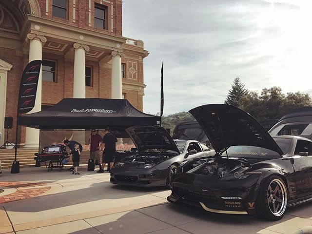 All set up at @socal_z @zdaycalifornia_official  with the @fastintentions crew. Come by and check out the TTZ and all the other cars on display.