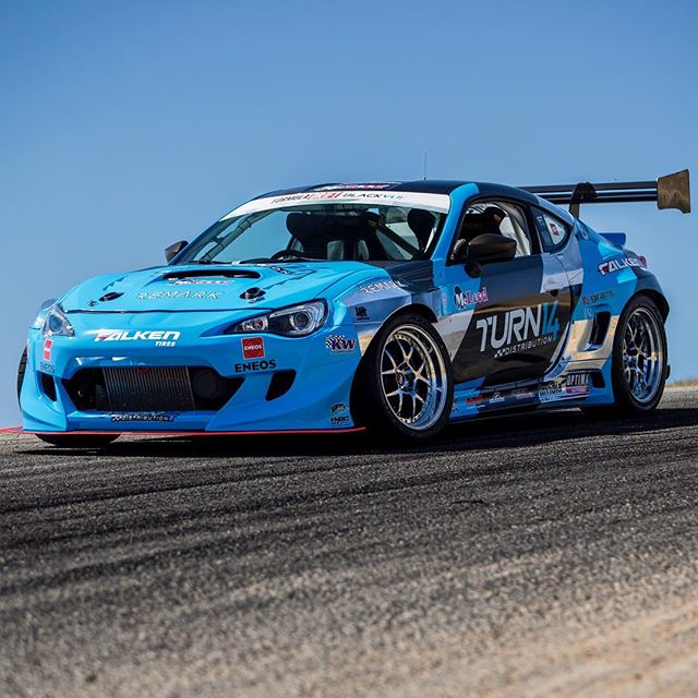 BOOM! @daiyoshihara + @turn14 @falkentire Subaru BRZ for the 2017 Formula DRIFT season