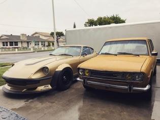 Free Car Wash. #Datsun #mustardtwins #dijonandyellow #spicyandsubtle