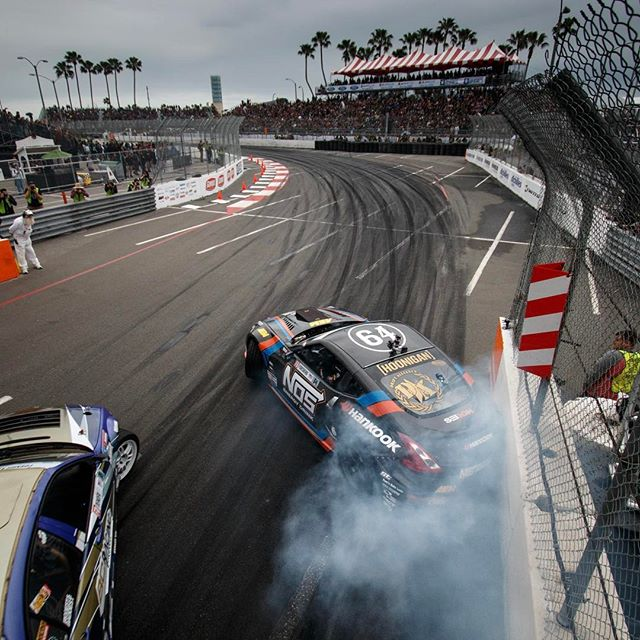 Getting a little too deep into the bridge wall @formulad Long Beach!