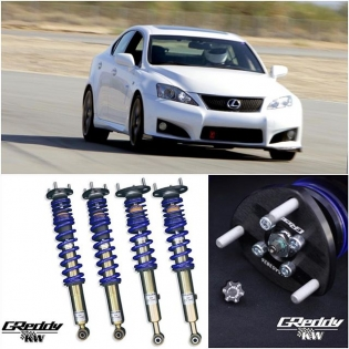 #GReddyByKW performance coil-overs for the #Lexus #ISF and #IS350 / #IS250 - Now with updated performance spec spring rates Front 12K / Rear 9K - in stock and available for purchase through Authorized GReddy Dealers or #shopgreddy.com p/n 14016103