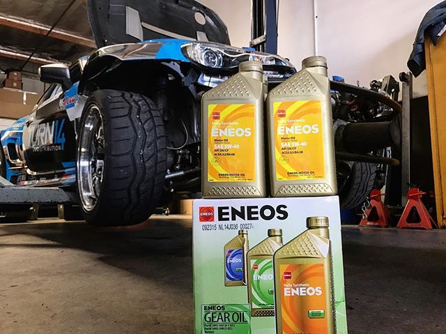 My @eneosusa shipment of engine oil and gear oil just arrived. Happy to have them on board for 2017. Only the best for my 🏼