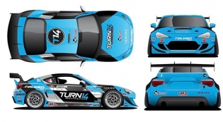 New 2017 livery of the @falkentire x @turn14 BRZ! Feels like the first day of school when everyone shows off their new look. #keepitfresh