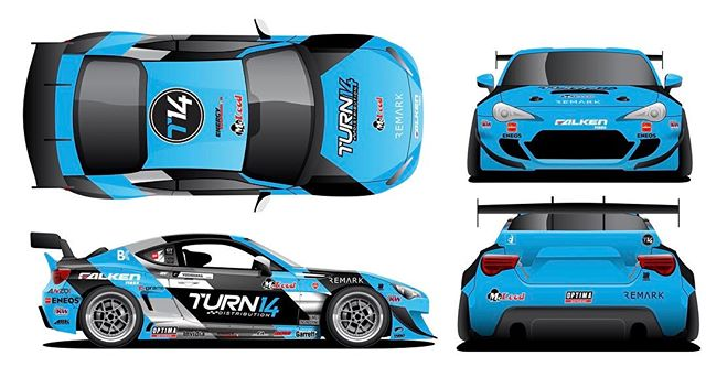 New 2017 livery of the @falkentire x @turn14 BRZ!  Feels like the first day of school when everyone shows off their new look.
