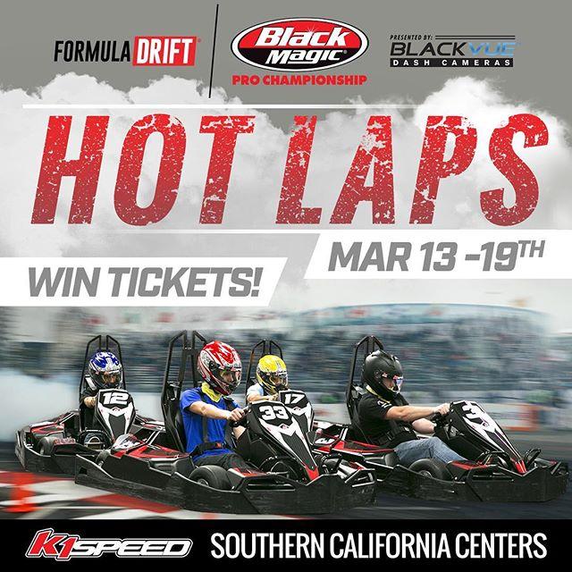 Race at @k1speed To Win Tickets to Formula Drift Long Beach Tickets