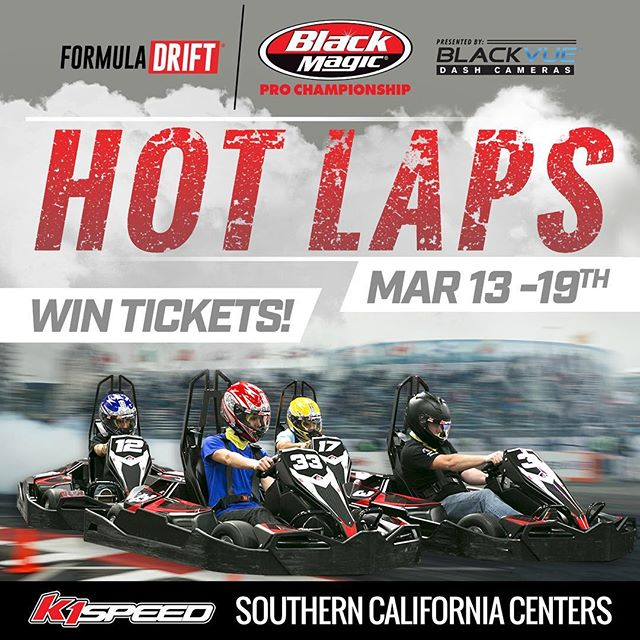 Starting this week.  Stop by any Southern California @k1speed to WIN Formula Drift Long Beach Round 1 tickets!