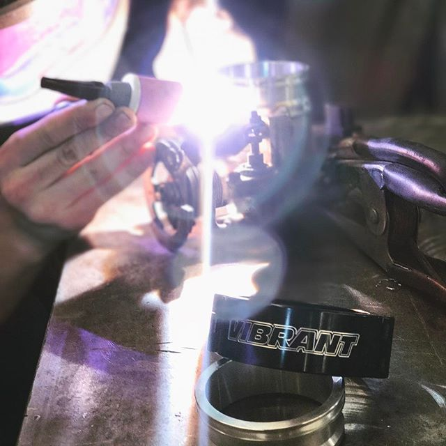 Stopped by @rad_industries to get the @vibrant_performance HD Clamp welded up on the project car by @dylanhughes129 🤘🏻we are finally close to the finish line  @donutmedia @networka @valvoline