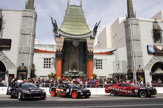 When we drifted in front of the TCL Chinese theater on Hollywood Blvd