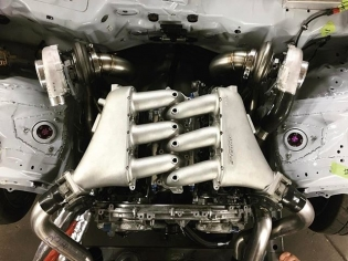 The last time I saw my 370Z at @namelessperformance everything was mounted up and they were just finalizing the plumbing and wiring to get everything working properly. I can't wait to see it again and hear this new engine! @nissan VQ42DETT @runbc stoker kit @jepistons @supertechperformance valves @turbobygarrett @turbosmarthq @greddyracing manifold @rj_manufacturing adapter @deatschwerks injectors @mishimoto cooling @motec electronics