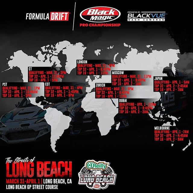 Tune in to the livestream tomorrow at 12:00 PST, as we will be covering the Media Day.  And the official live stream schedule for Round 1 - Streets of Long Beach!
