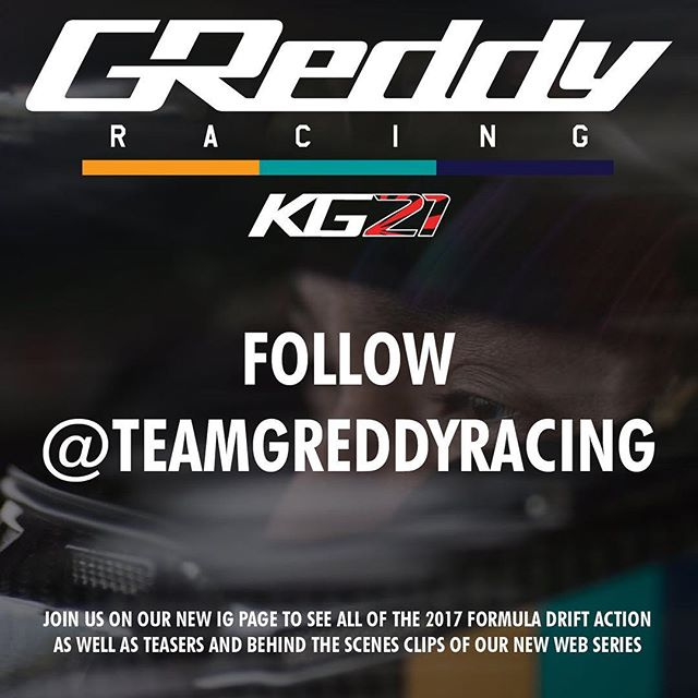 We have changed our Instagram name!  The @greddyperformance IG will continue post on products and highlights from our programs.  But if you want more in depth coverage and go behind the scenes with the team, please follow our new Instagram account >>> @teamgreddyracing