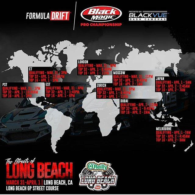 Formula Drift Long Beach 2017 Live Steam Schedule