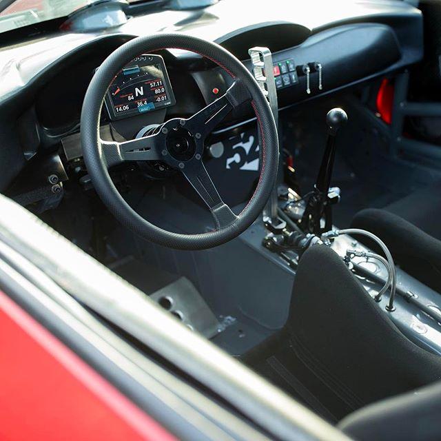 Interior of the #GT4586. 5 speed sequential trans, @motecusa #PDM, display, and ECU, @namelessperformance handbrake, @recaro_motorsport seats, @takataracing race 6 Hans harnesses.