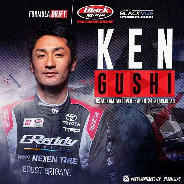 Starting MONDAY @kengushi will be taking over the Formula DRIFT Instagram account!  @blackvueofficial