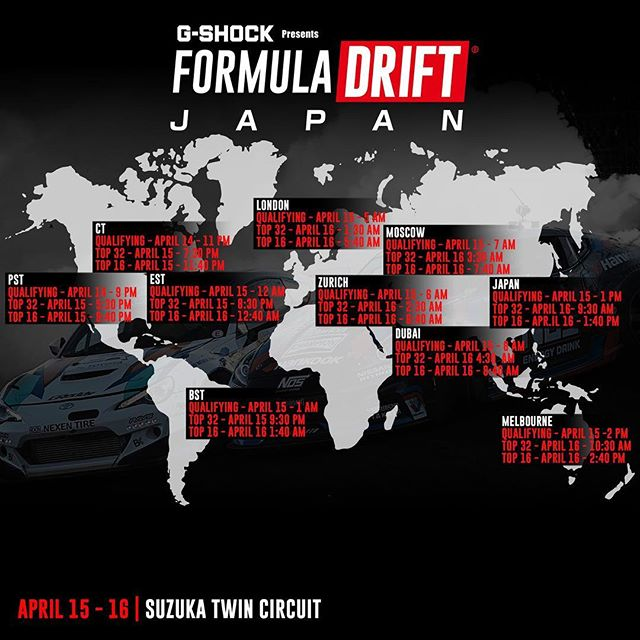 TONIGHT! At 9:00 PM PST @formuladjapan Rd 1 - Suzuka will be going live for qualifying! Watch the livestream via  formulad.com/live