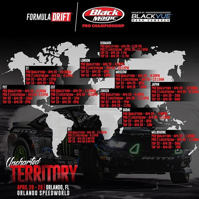 Tune in this weekend via formulad.com/live or download the Official Formula DRIFT app to watch the live stream