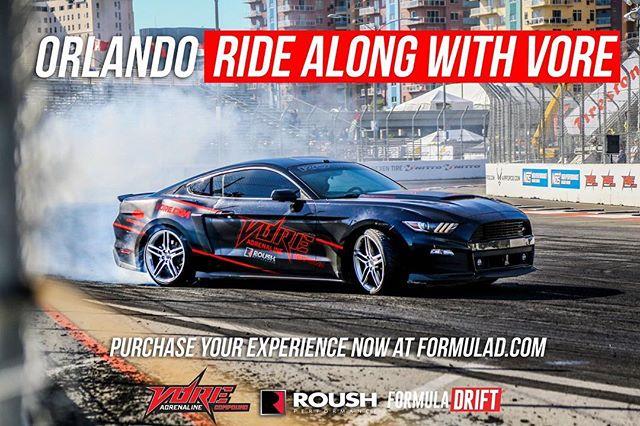 Want to get even closer to the action at this weekend? Purchase a Ride Along with @vorevegas via www.formulad.com for more information