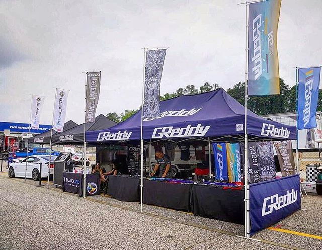 @teamgreddyracing and @kengushi are out at Road Atlanta for #FDATL.  Stop by the @blackvueofficial booth for the @boost_brigade gear and s... *Umbrellas, caps, sweatshirts, tees, nobori flags, decals and more...