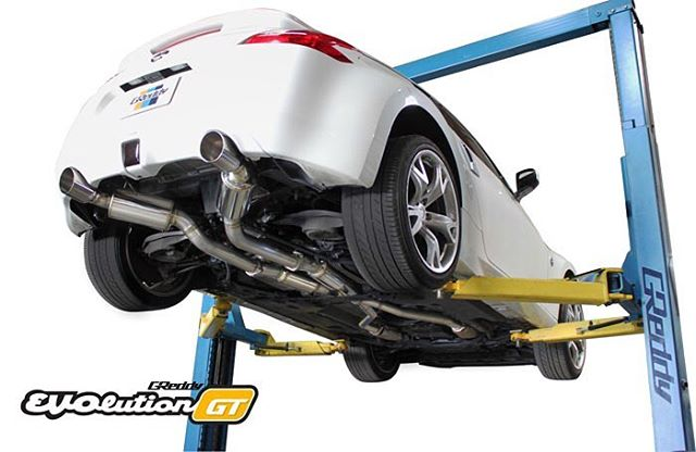 "Another new exhaust coming in June, will be the cat-back exhaust for the Nissan 370Z… 2.5"" Y to a full 3"" dual muffler system. Contact your favorite Authorized GReddy Dealer or #shopGReddy.com for more pre-order details…"