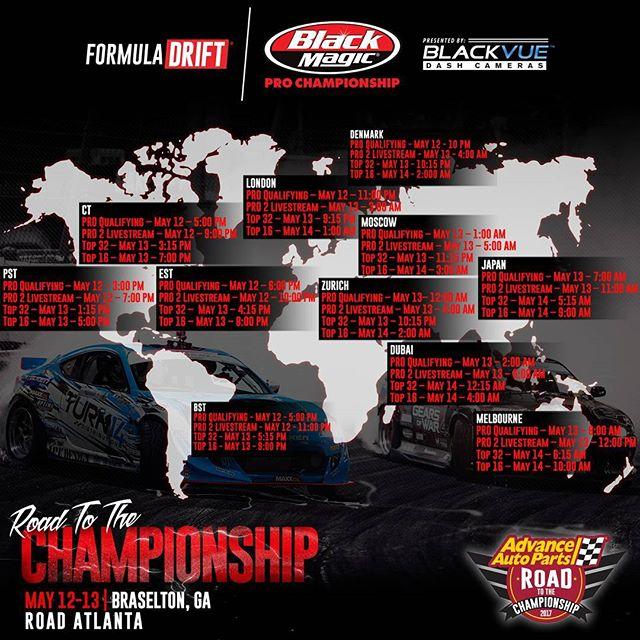 Formula DRIFT Atlanta 2017 Live Stream Schedule