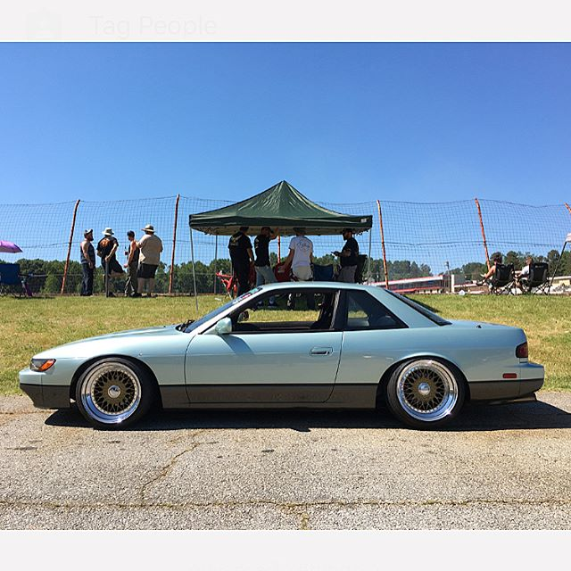 Hanging out at @lookoutdrift/@usdrift today across the street from Road Atlanta and spotted my favourite S13!