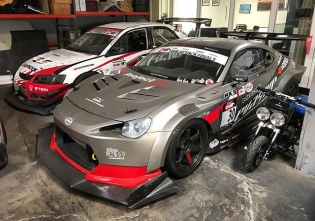 Some fast #timeattack toys parked in a corner at @evasivemotorsports