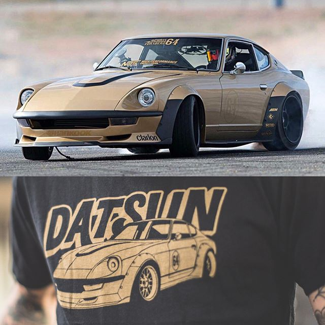 The Datsun Gold Leader shirt is back in stock and ready to ship just in time for you to have at @zdayz_official! I am coming back to ZDayZ with my freshly rebuilt 280Z on display and on the mountain for a little fun! Looking forward to another awesome time with the Z community!