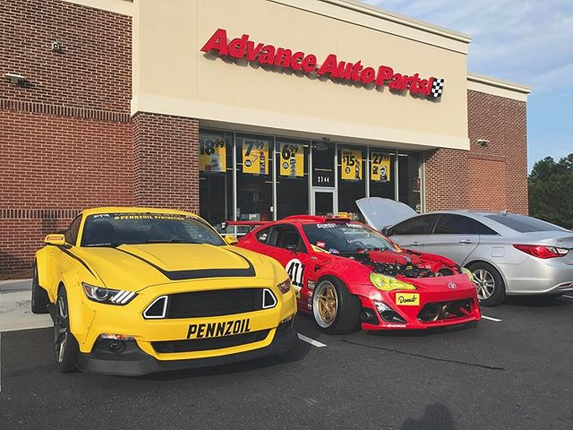 We out here at @advanceautoparts hanging with my homie @vaughngittinjr his @mustangrtr and the @gumout from now till 10am. 2744 Hamilton Mill Rd, Buford Georgia, 30519