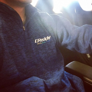 Who is taking a drive this long Memorial Day weekend? @teamgreddyracing poly blue fleece, perfect for this cool spring weather. #shopGReddy.com
