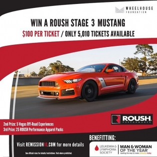 Win this brand new Roush Stage 3 Mustang!!! Visit www.REMISSION10.com for more details on the sweepstakes and read below for more information on the man behind it all. 2017 marks my friend Scott Peterson's 10th Year in Remission and to celebrate he has accepted a nomination to run for the Leukemia Lymphoma Society's Man of the Year campaign. He has defied the odds of a 50% chance to live beyond 5 years and a slim chance to ever have children. He celebrates survivorship today with his beautiful wife and two amazing daughters. #REMISSION10
