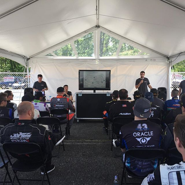 @jcastroracing here: starting the day with a drivers meeting, then we will be giving some heating up the track with our @nexentireusa tires.