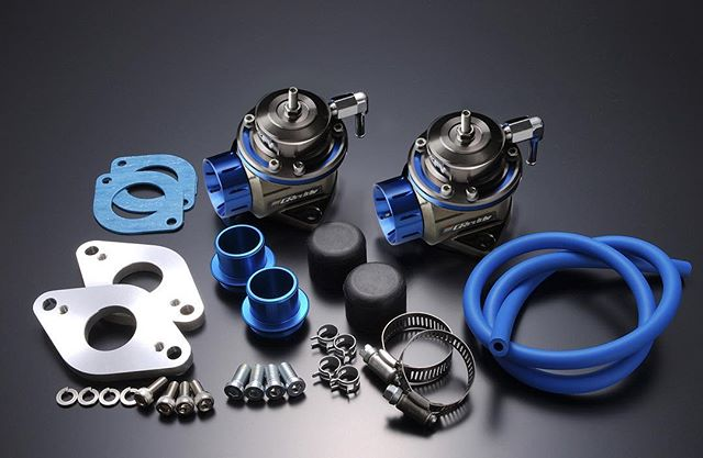 GReddy Twin TypeFV Blow-off Valves Kit for the R35 GT-R VR38DETT - P/N 11521210 - with blow-off recirculation kit for stock GT-R piping.