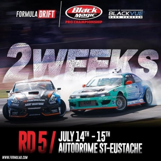 In 2 weeks, Round 5 | July 14 -15 | Montreal, Canada! Get your tickets now! Official #️⃣ #FDCANADA #formuladrift #formulad