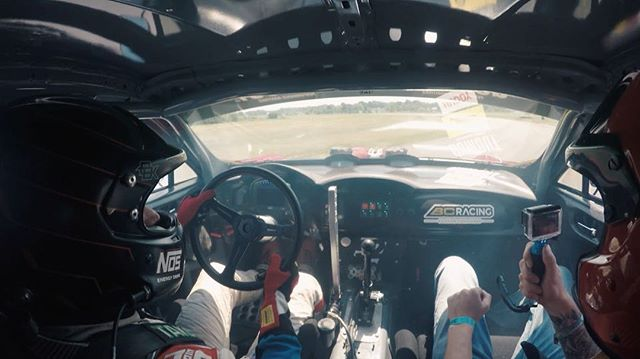 In car from @bcracingna at @gridlifeofficial in the @gumout #GT4586. It is tough driving smooth with no power steering. Got a great shoulder workout though 😎🤘🏼