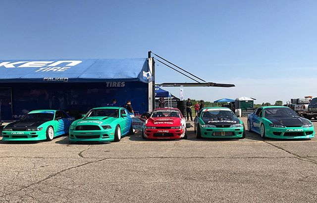 Made it to Gingerman Raceway in Michigan with the @falkentire fam for @gridlifeofficial. It's going to be a fun weekend!