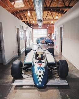 My twin turbo @nissan 370Z in good company with this 1985 Cosworth turbo V8 Indy car at the @donutmedia office. 📸: @jessewould