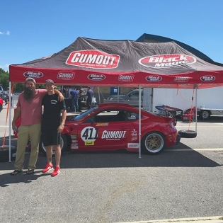 Out here at @clubloosenorth with my buddy @dangdrifter and the @gumout #GT4586. Come check it out at @nhms I'll be here till #LFOD goes on stage 🤘🏼🤘🏼🤘🏼 @advanceautoparts #RT411