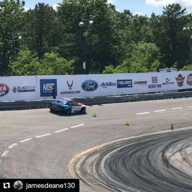 Repost @jamesdeane130 ・・・ This track is great fun to drift! We're getting more and more used to the bank with every lap here at @formulad practice today.  | @worthousedrift | @falkentire