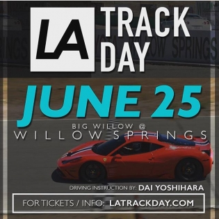 #Repost @la_trackday ・・・ Our next LA TRACK DAY is next Sunday June 25th!       • Driving instruction by: @DaiYoshihara • 6-8 Hours of open track time • Professional Photgraphy • Family & friends welcome to attend _______________________________________ 🗓 Sunday June 25th ⏱ 10am - 5pm  WILLOW SPRINGS - Rosamond, CA  REGISTER: www.latrackday.com - - - - - - - #Mercedes #mcLaren #ferrari #speciale #porsche #goldRUSHrally #targatrophy #willowsprings #bigwillow #pagani #canyonrun #rally #formula1 #formulad #tracking #shiftsector #speedventures #latrackday #trackday