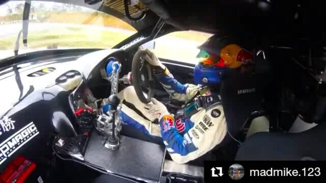 Repost @madmike.123 ・・・ Rad onboard inside from @formuladjapan Qualifying trying to tame the 1000hp in the wet to get a score on the table after a 0 on lap one.  @trmnl7