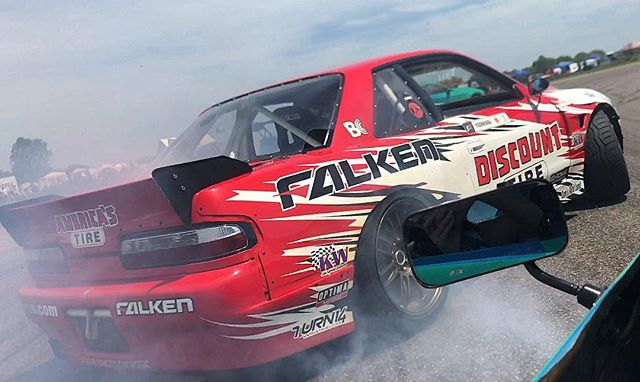 The @falkentire train going through the sweeper at @gridlifeofficial