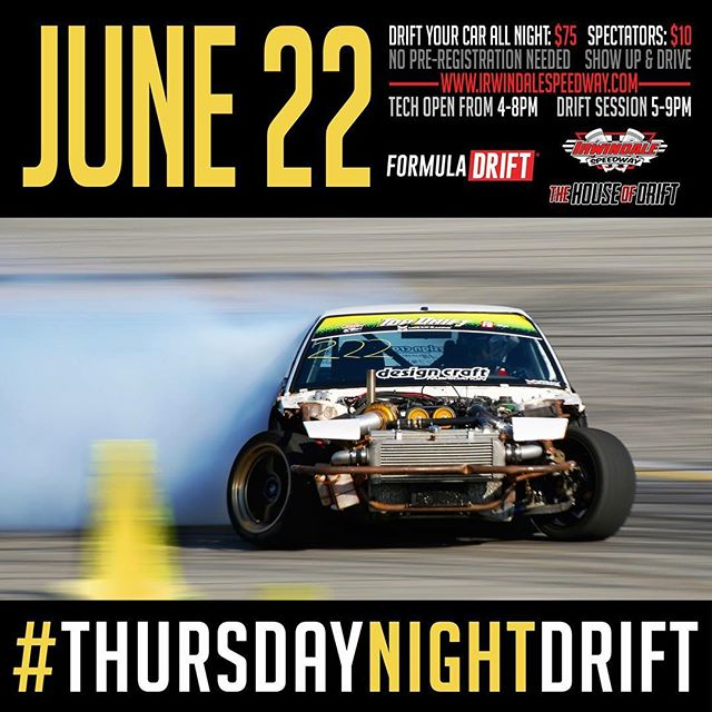 TOMORROW. Come out to Thursday night for at Irwindale Speedway on June 22, 2017