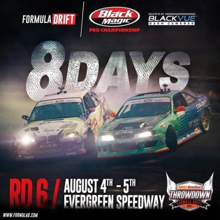 8️⃣DAYS! RD 6 - Evergreen Speedway | August 4-5| #FDSEA #formulad #formuladrift