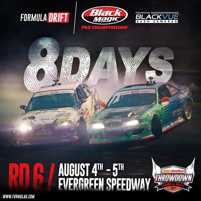 8️⃣DAYS! RD 6 - Evergreen Speedway | August 4-5|