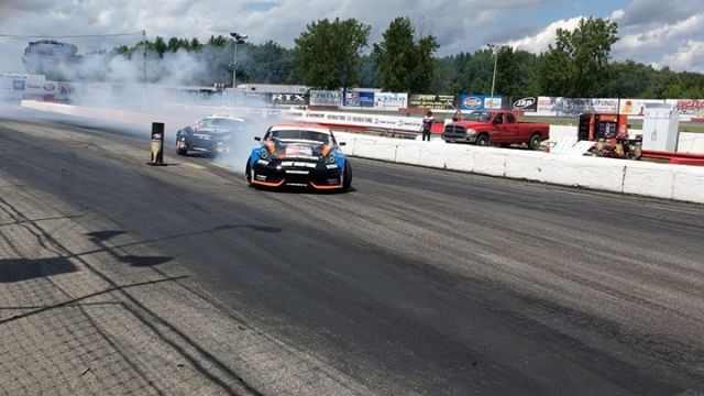 First run of practice before Top32 at @formulad Canada!