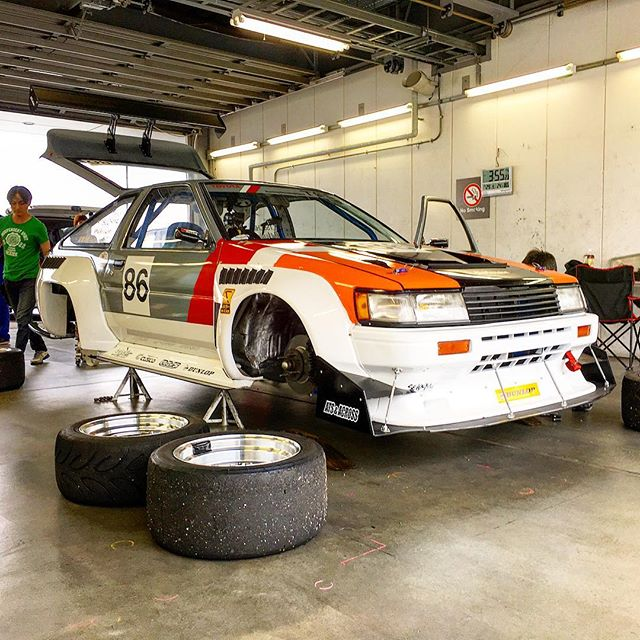 I know nothing about Corollas, but I'm told this one is sort of a big deal. Keiichi Tsuchiya's N2 Cup AE86.