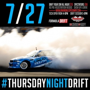 Join us tonight for #thursdaynightdrift at Irwindale Speedway! #formulad #formuladrift