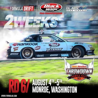 "Just about 2 weeks out till RD 6 @autozone ""Throw Down"" #formulad #formuladrift #fdsea"